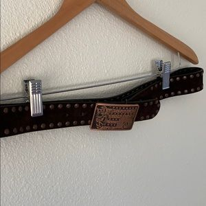 Volcom Leather Belt with Large Buckle